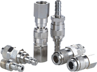 21 Series - European Industrial Mini Pneumatic Quick Release Couplings (DN 5)